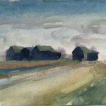 Beach huts by the River Blyth, Walberswick