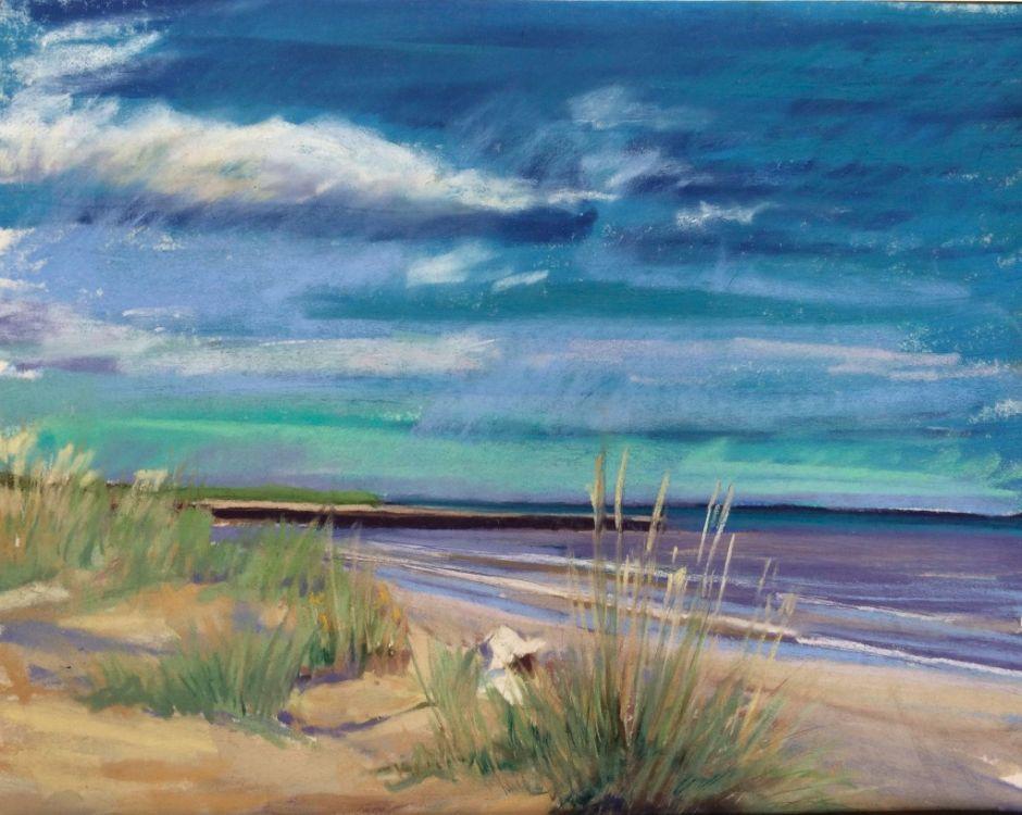 Sunhat on Walberswick Beach - SOLD