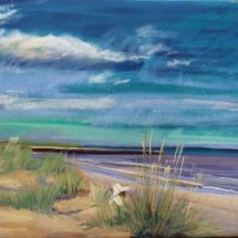Sunhat on Walberswick Beach - SOLD