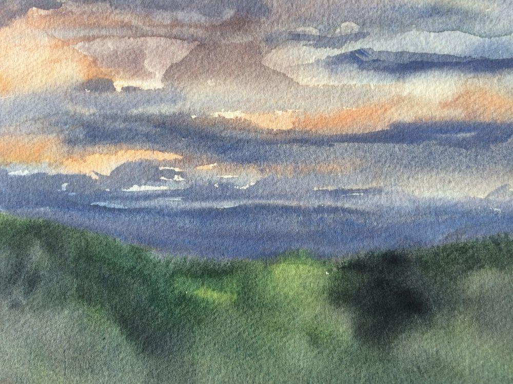 Sunset over the hills, Piedmont
