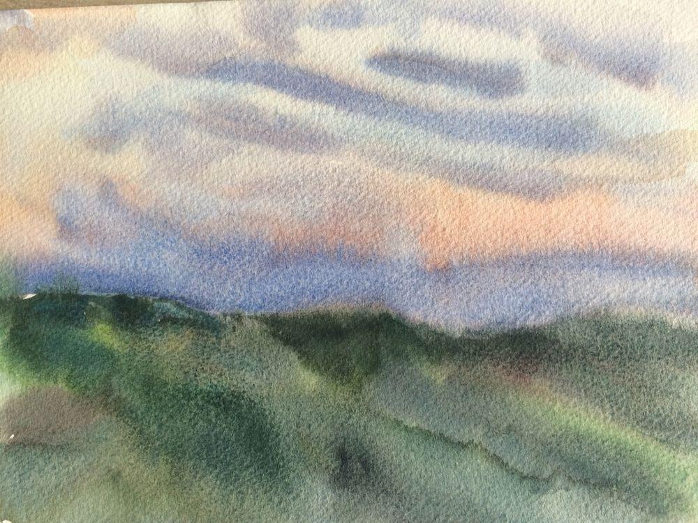 Evening sky from Casa Vignotti - £50