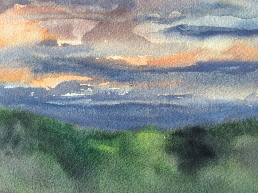 Evening over the ridge from Casa Vignotti - £50