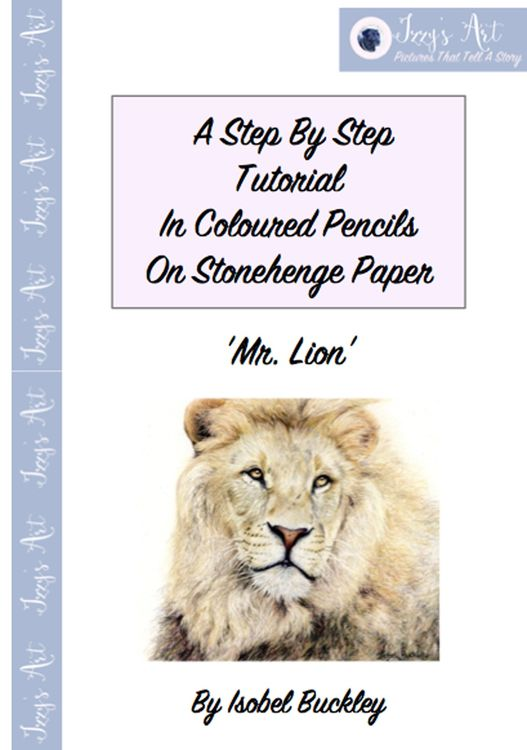 step by step tutorial on how to draw a lion by Isobel Buckley