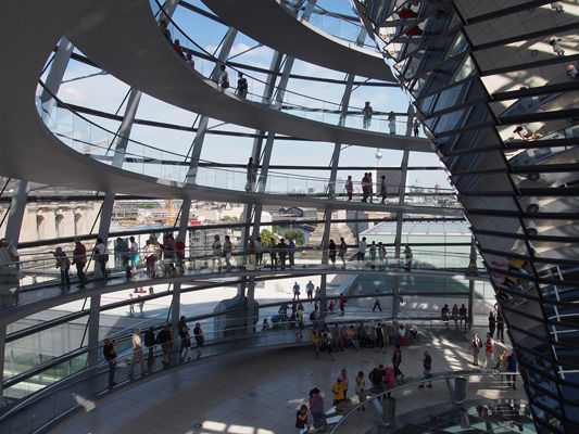 Inside the Reichstag Dome Berlin