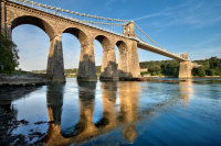 Bont Borth/Menai suspension bridge