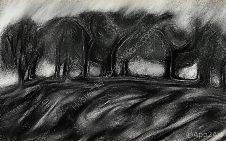 Charcoal copse