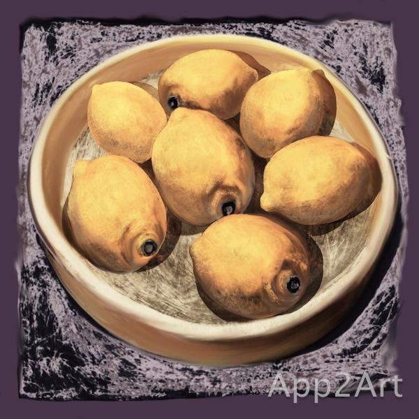 The bowl of lemons
