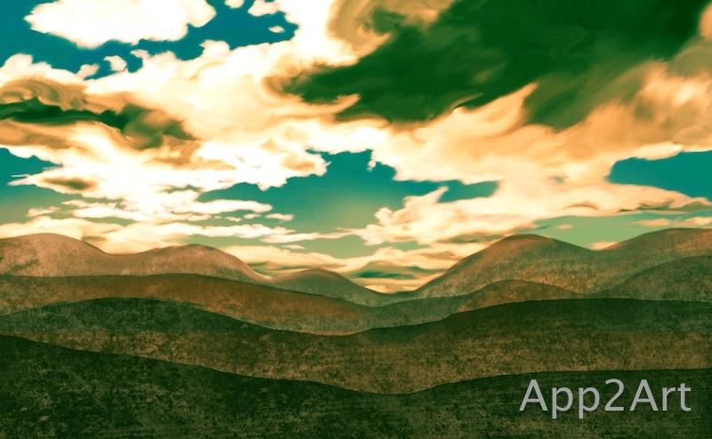A rolling sky