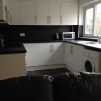 Modern kitchen of this 4 bed Loughborough student accommodation.