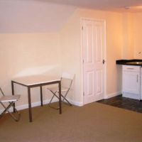 Dining area of Loughborough student apartments to let.