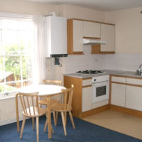 Kitchen-diner of Loughborough student apartments to let in Bedford House.