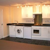 Modern kitchen in these Loughborough flats.