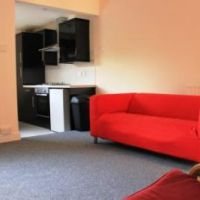 Living area in 107 Leopold Street, Loughborough golden triangle four bedroom houses. Great student accommodation location to let to groups of 4.