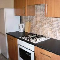 Kitchen in 120 Station Street, Loughborough golden triangle four bed houses. Great student accommodation location to let to groups of 4.
