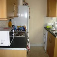 Kitchen in 5 Paget Street, Loughborough golden triangle four bed houses. Great student accommodation location to let to groups of 4.