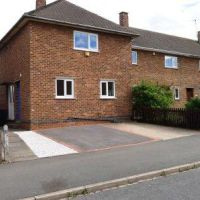 Semi-detached student house on Gracedieu Road close to Loughborough University suitable for groups of 4 or 5.