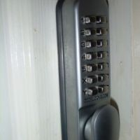 Keypad operated security locks for each bedroom at 56 Broad Street, student accommodation Loughborough.