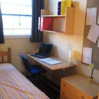 Typical bedroom in Towles Mill, Loughborough town centre/train station 6 bed houses to rent to groups of six. Great cheap student accommodation.
