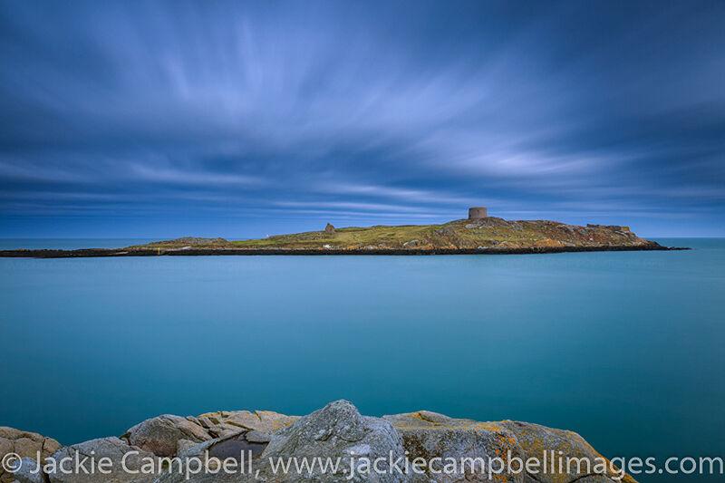 Long exposure image taken of Dalkey Island