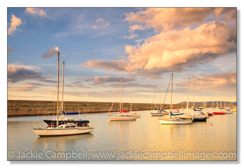 Boats in the evening light