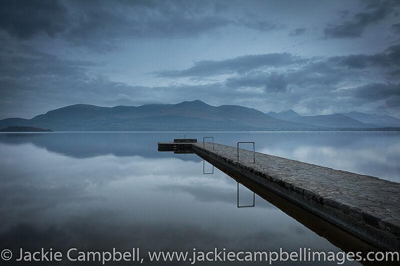 Blue hour on a Kerry Lake