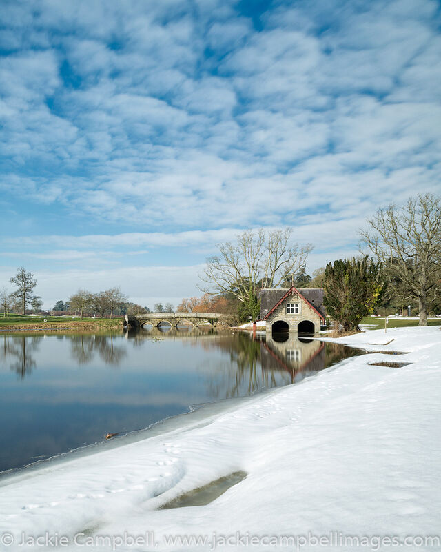 The boathouse in the snow