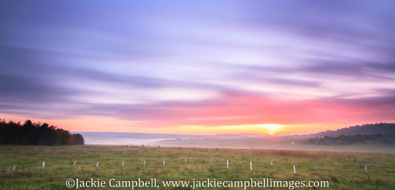 Long Exposure sunrise over Salisbury Plains, UK
