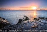 Winter rocky sunrise