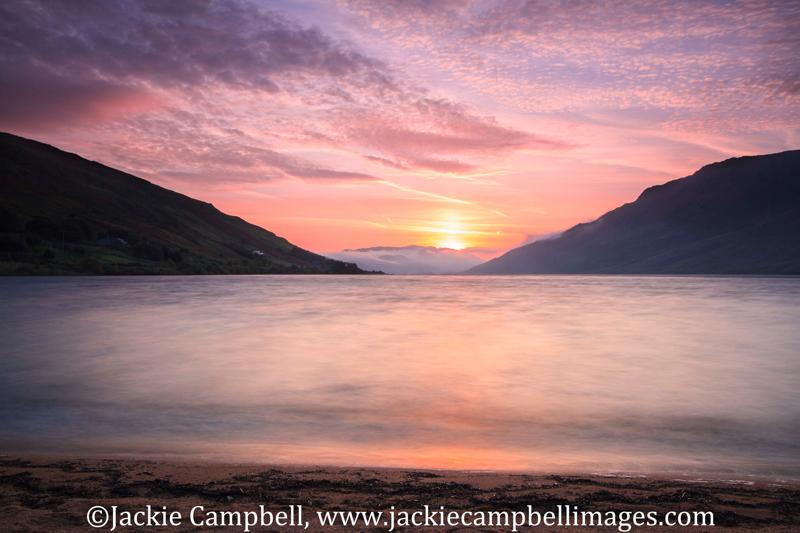 Misty morning valley sunrise