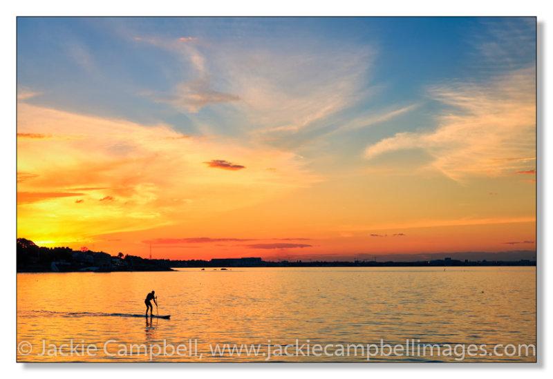 Lone Paddleboarder