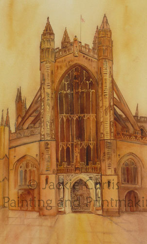 Bath Abbey Watercolour