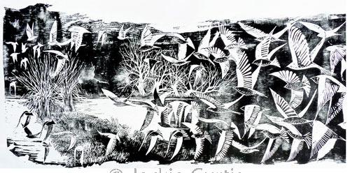 Flock - Large Woodblock