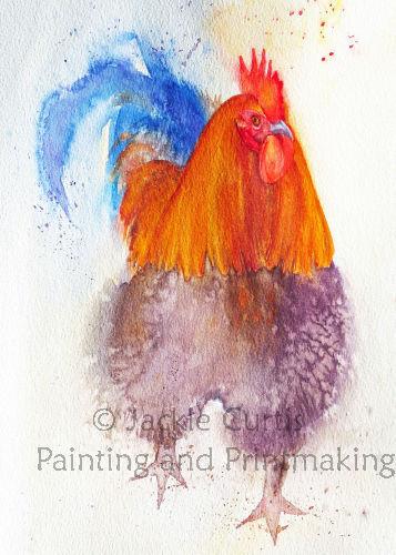 Cockerel Watercolour