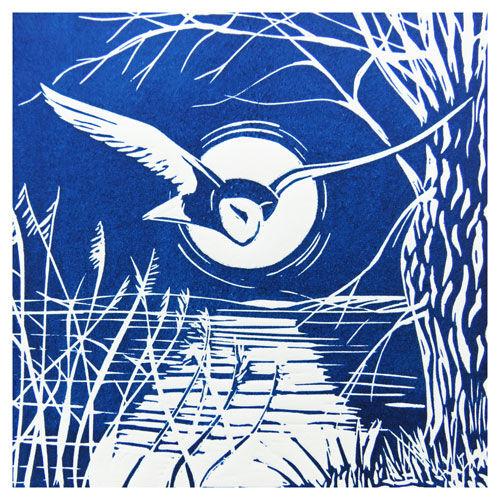 Night Flight Owl Card