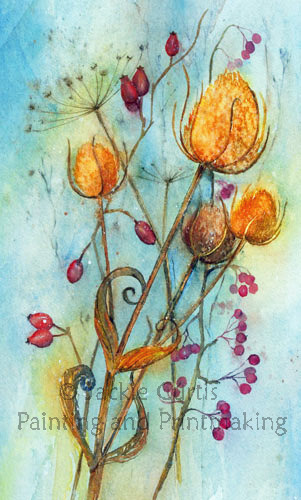 Teasels and Rosehips