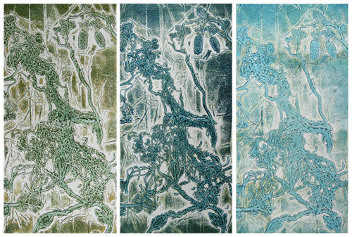 Seaweed Foil Prints