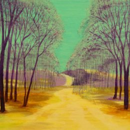'Purple Woodland'  SOLD