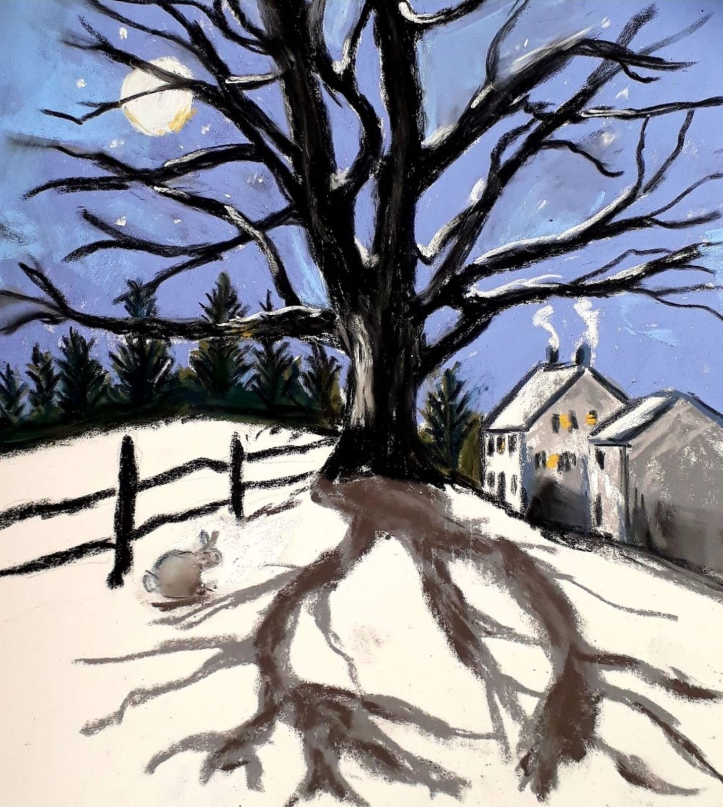 SORRY SOLD OUT Moonlit tree print