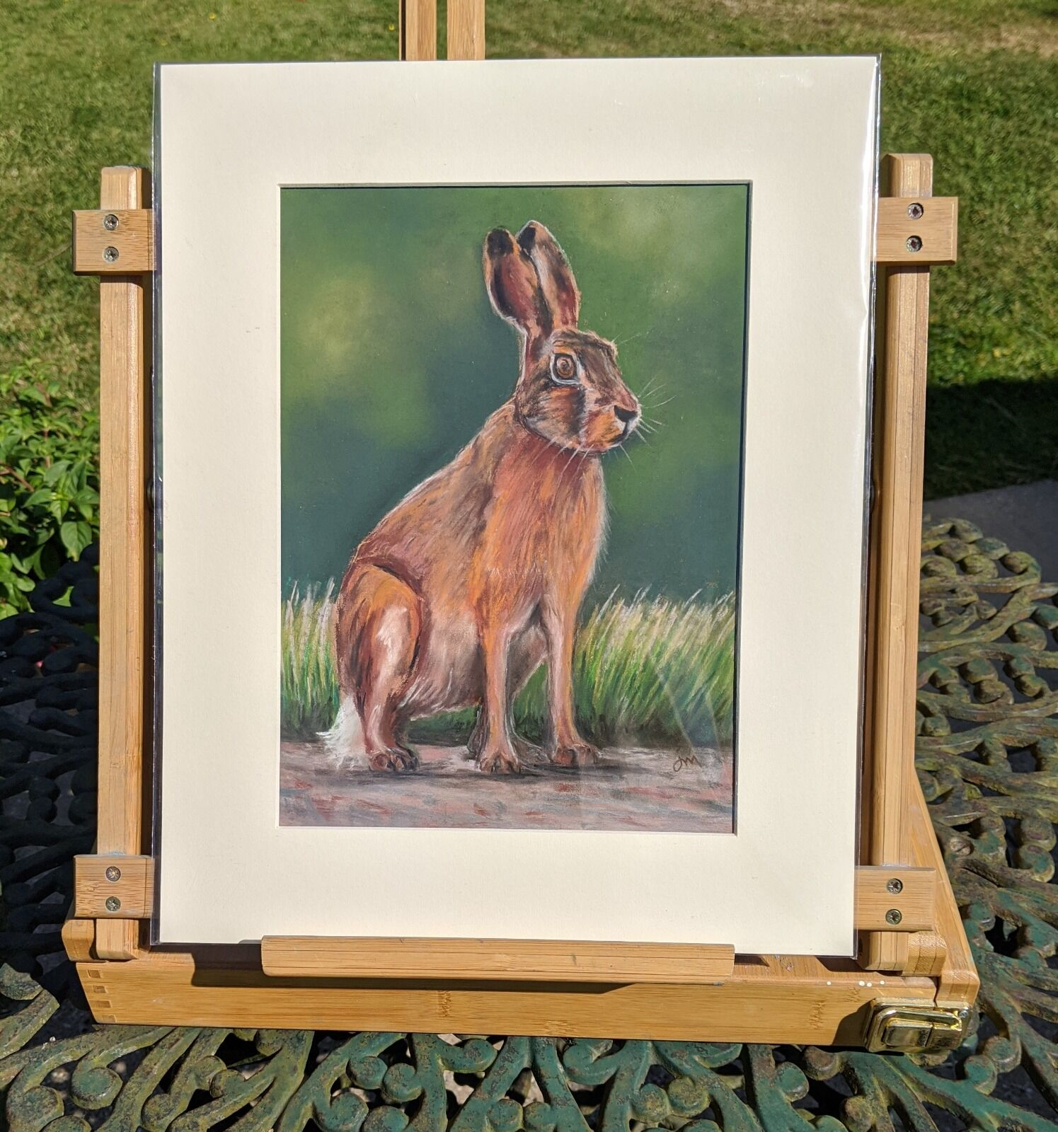 Norfolk hare in lane