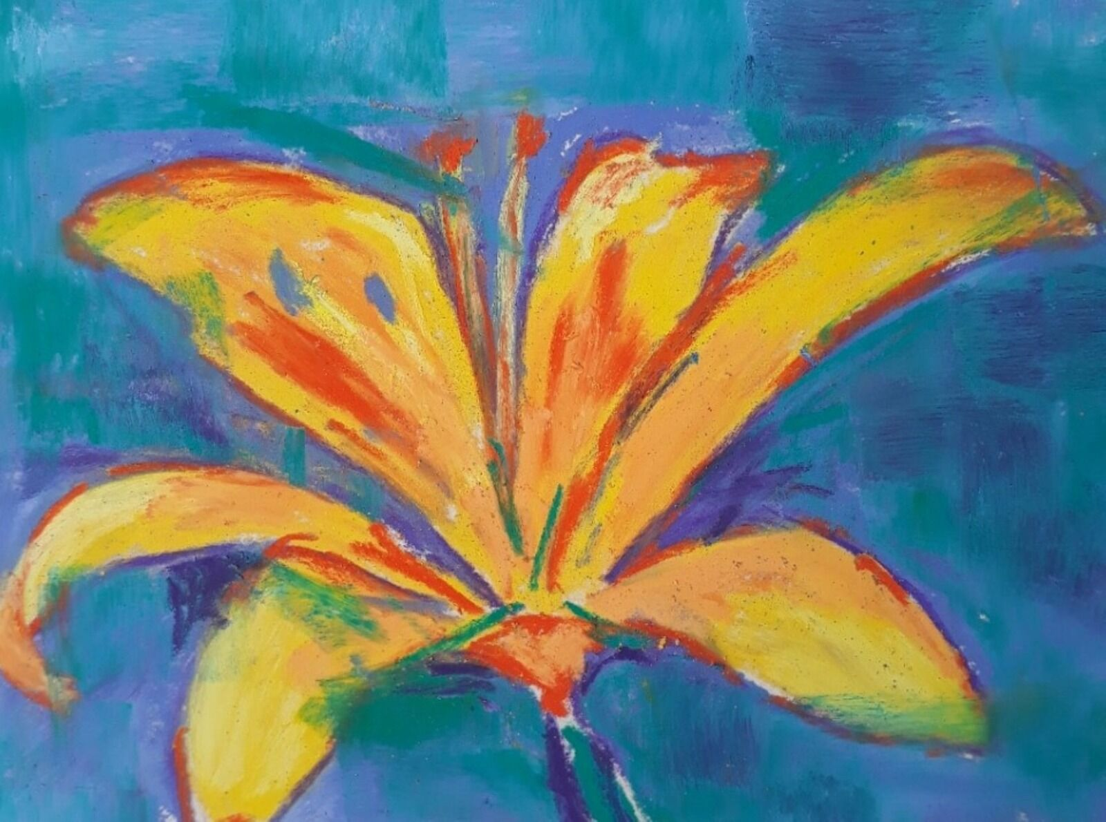 Yellow lily - abstract