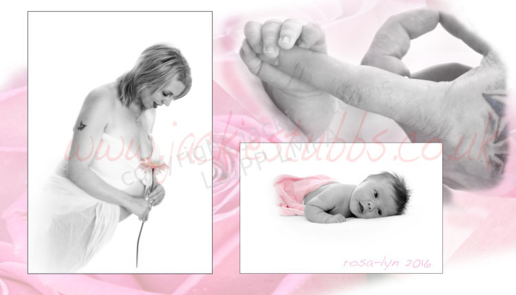 Maternity shoot includes baby's first sitting