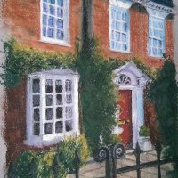 Red House, pastel  2016