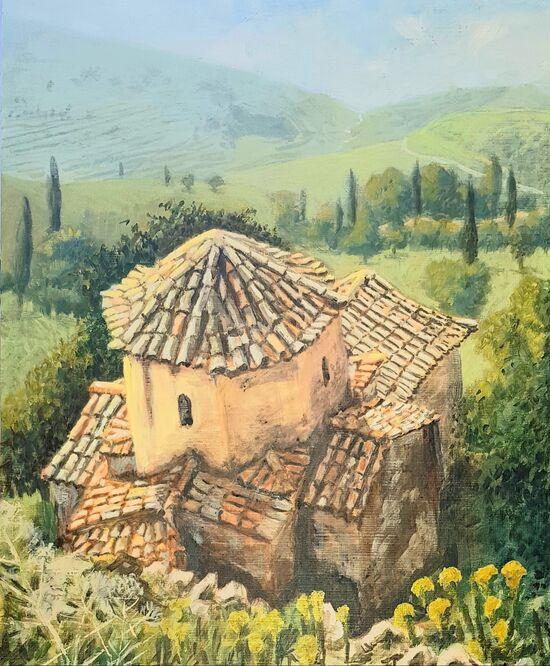 Hillside chapel, Aegina
