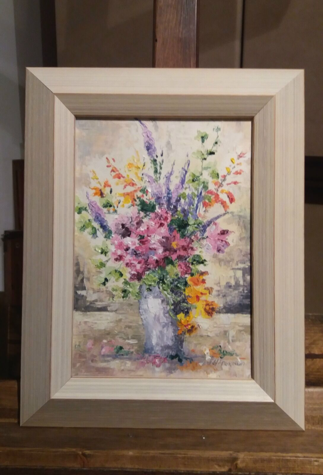 Mixed flowers in oils