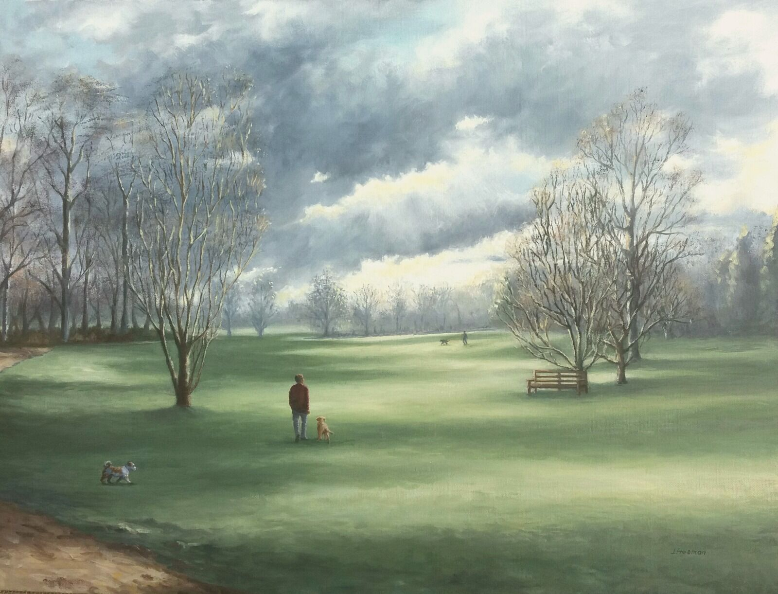 Evening walk on the Carrs in oils