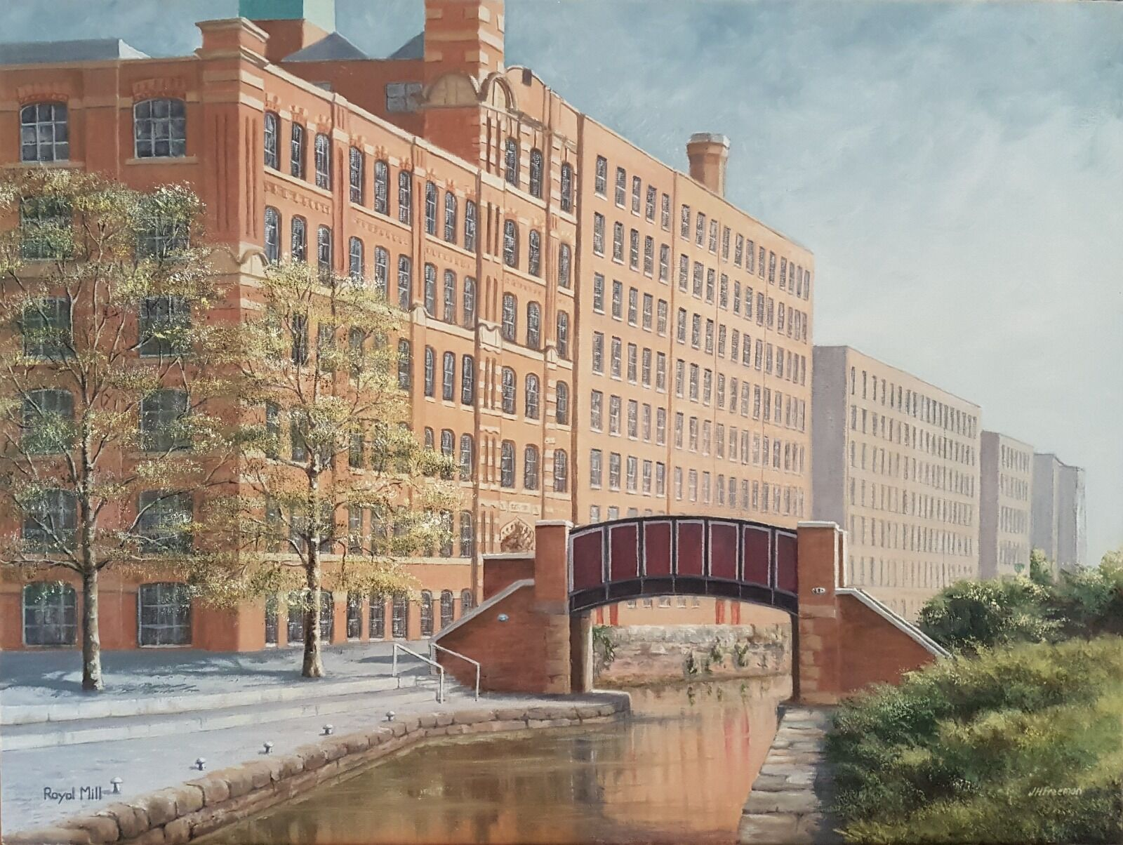 """""""Royal Mill, Manchester"""" in oils"""