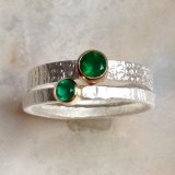Green Onyx double ring set