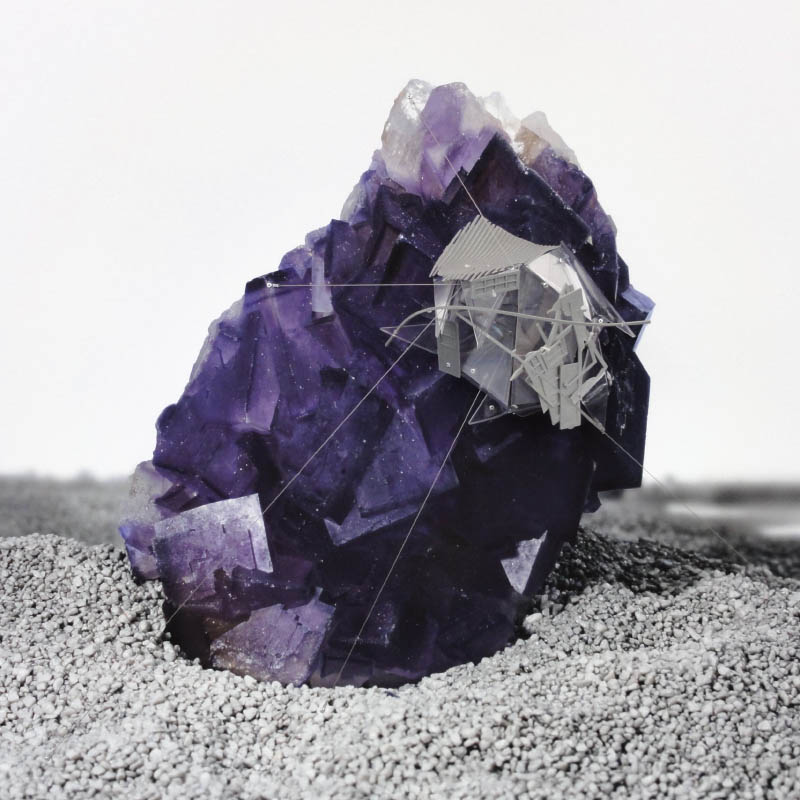 Radiances (Sound pressure around chinese violet Fluorite), 2011