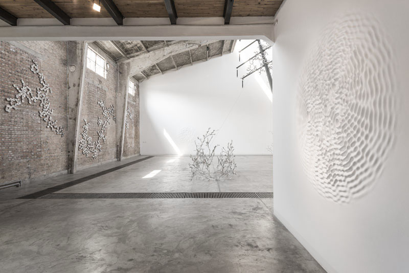 Loris Cecchini exhibition view, 2013