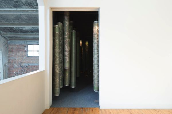 Fabric print cylinders, 2013